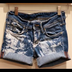 handmade in la Shorts - Bleached Out Denim Cut Offs XS/S